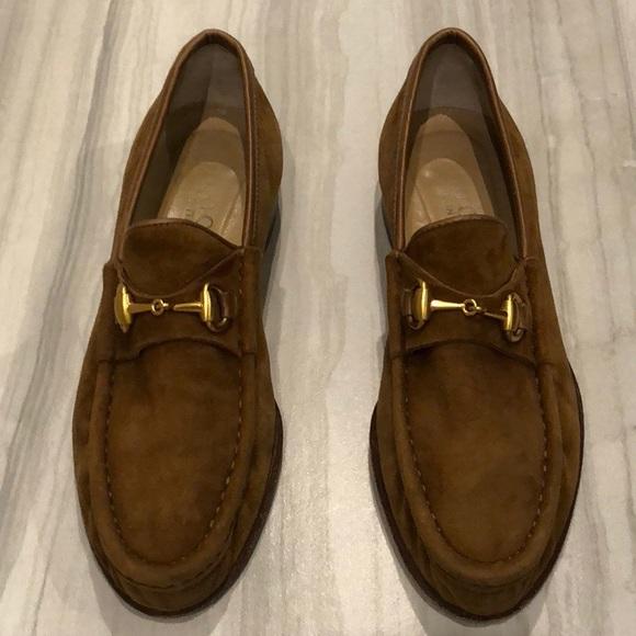 459468d70f9 Gucci Shoes - Vintage Gucci Horsebit Suede Loafers Women s